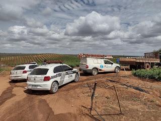 Em Sossego, Polícia flagra furto de energia elétrica em área de irrigação de tomates