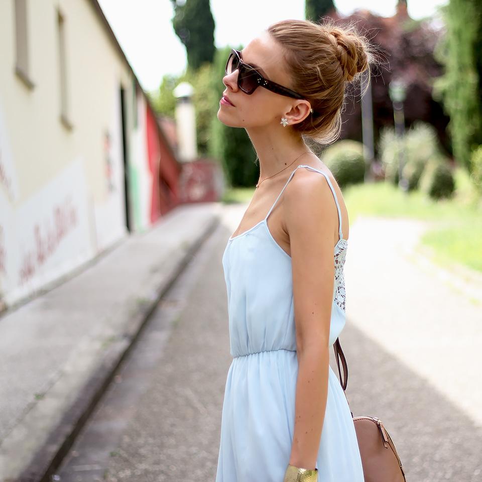 Baby Blue Maxi Dress Karamode