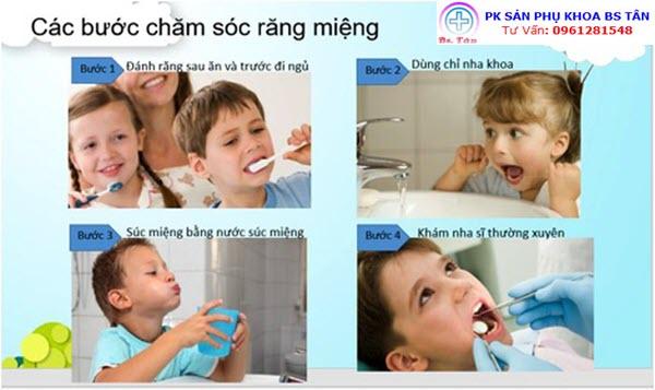 vệ sinh răng miệng trẻ em