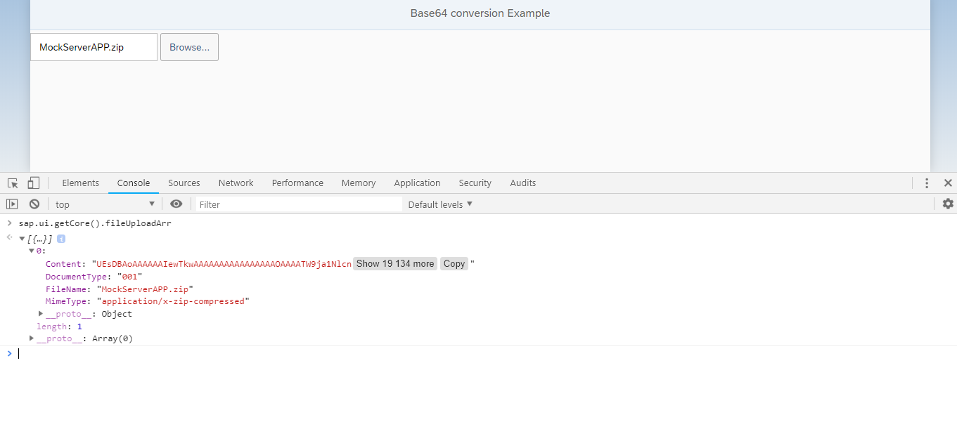 SAPUI5/SAP FIORI snippets and information: Base64 conversion