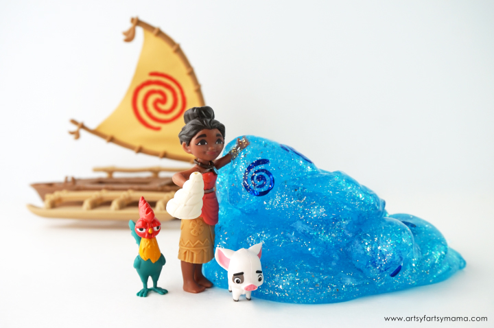 Easy 3-Ingredient Disney Moana-Inspired Ocean Slime