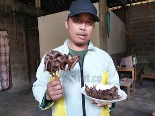 beberapa di daerah jawa juga menjual beberapa daging sate paniki atau kelelawar