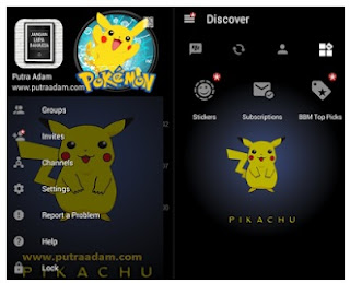 BBM Mod Pikachu -  Base Offcial Version 3.0.0.18 Apk