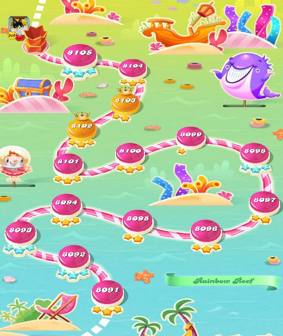 Candy Crush Saga level 8091-8105