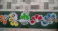 border rangoli art to make at home