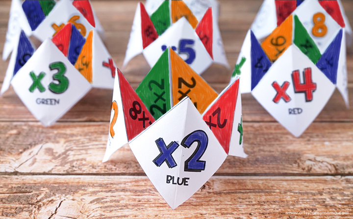 Free Printable Multiplication Cootie Catcher Set