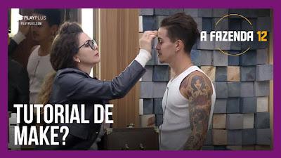 A Fazenda 12 - Luiza ensina Biel a passar maquiagem - Carol está indecisa sobre voto