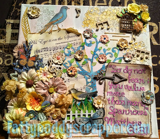 Altered Canvas using Best Glue Ever and Embellie Gellie~ Kim Murray