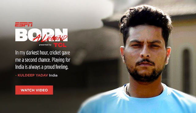 TCL joins hands with ESPN to build 'Born a Legend' series, with the newest video featuring Indian cricketer Kuldeep Yadav