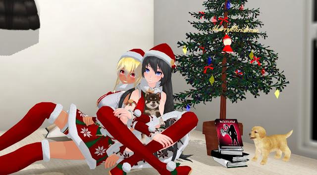 Anna y Krista, dibujos anime, están a los pies de un árbol de Navidad con muchos libros, entre ellos, Mekronos