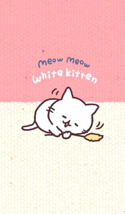 meow meow white kitten