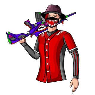Man In Red Dress With OP M416 Skin - Pubg Mobile Moscot Logo