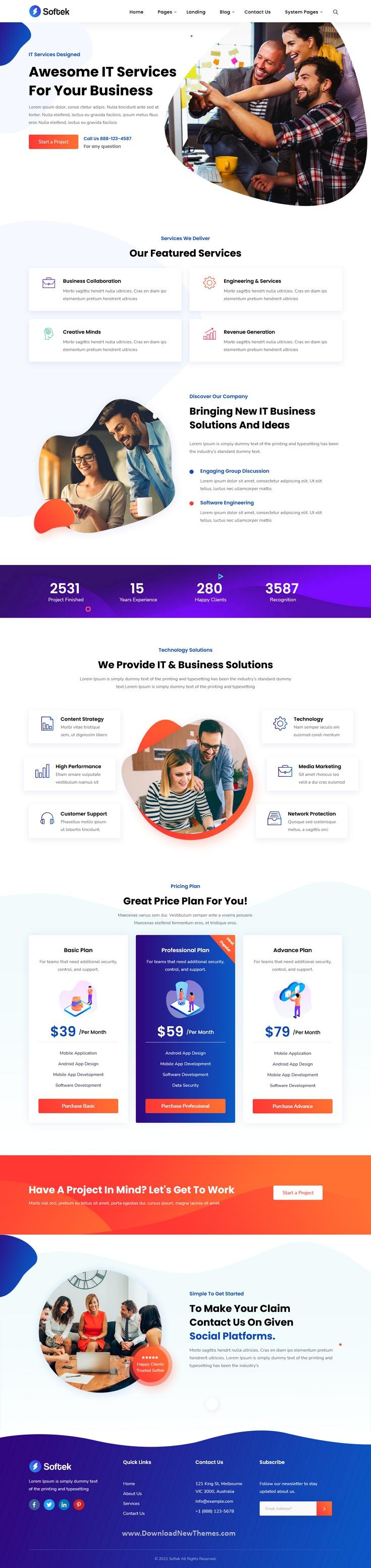 Software & IT Solutions Premium HubSpot Theme