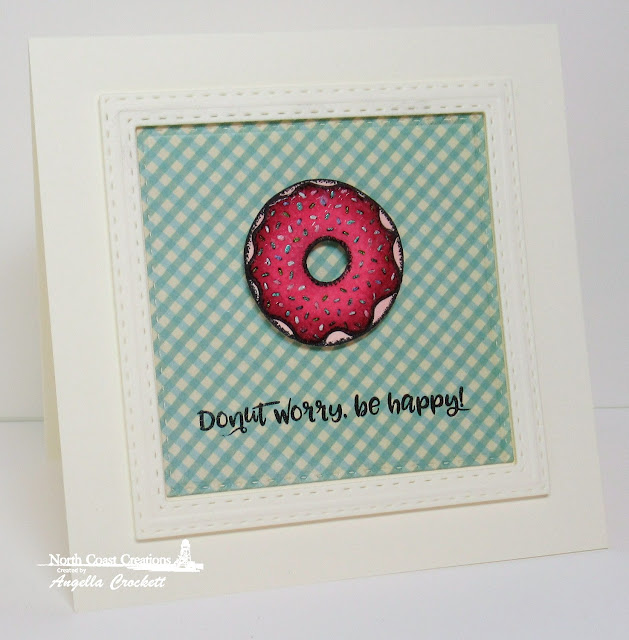 NCC Sprinkled With Love Stamps and Dies, NCC Sweet Shoppe Paper Collection, ODBD Custom Double Stitched Squares Dies, Card Designer Angie Crockett