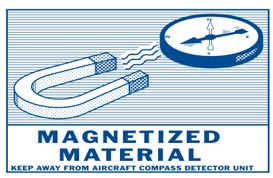 Magnetized Material hazmat placard