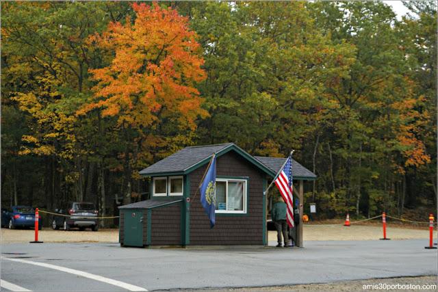 Entrada al Monadnock State Park en New Hampshire