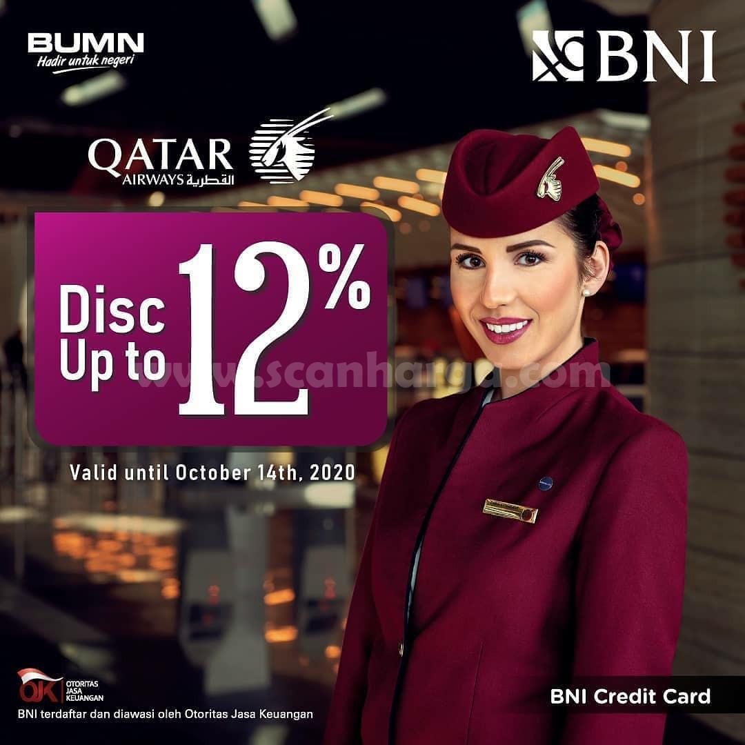 Promo Bni Diskon 12 Untuk Penerbangan Qatar Airways Periode Hingga 20 Oktober 2020 Scanharga