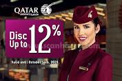 Promo BNI Diskon 12% Untuk Penerbangan Qatar AirWays Periode Hingga 20 Oktober 2020