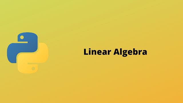 HackerRank Linear Algebra problem solution in python