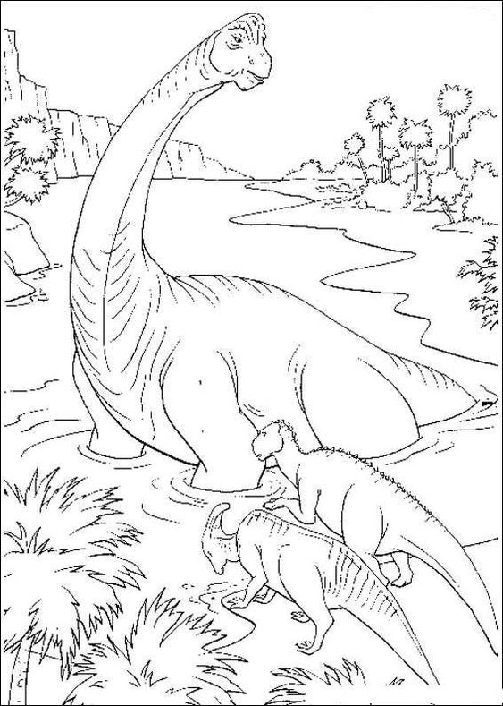 Dinosaurs coloring pages 13