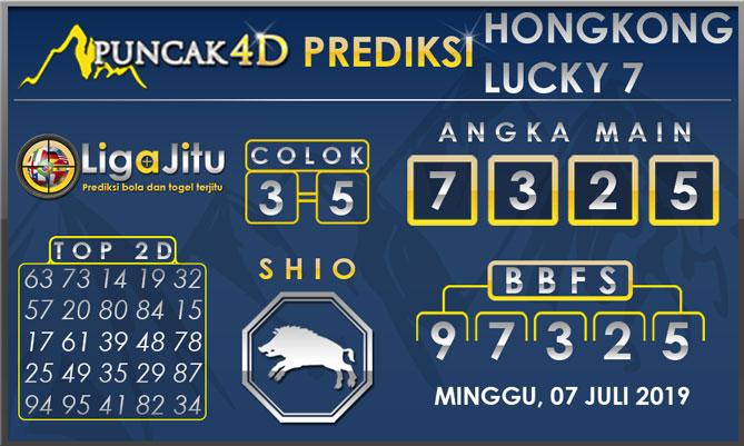 PREDIKSI TOGEL HONGKONG LUCKY7 PUNCAK4D 07 JULI 2019