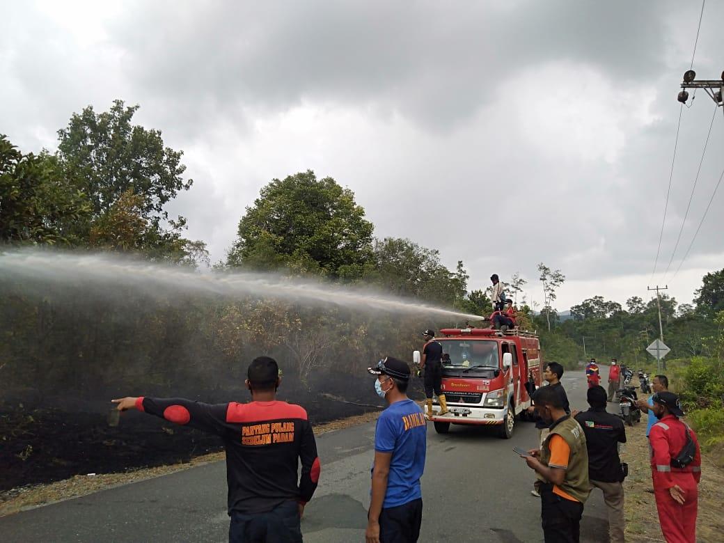 Kabid Damkar Kabupaten Lingga Himbau Masyarakat Untuk Tidak Membakar Hutan dan Lahan