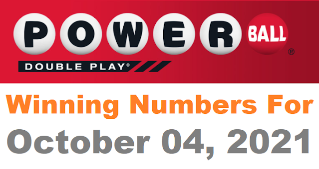 PowerBall Double Play Winning Numbers for October 04, 2021