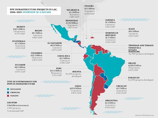 peta negara latin