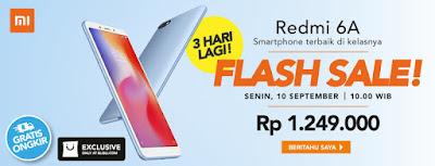 Flash Sale Redmi 6A Indonesia