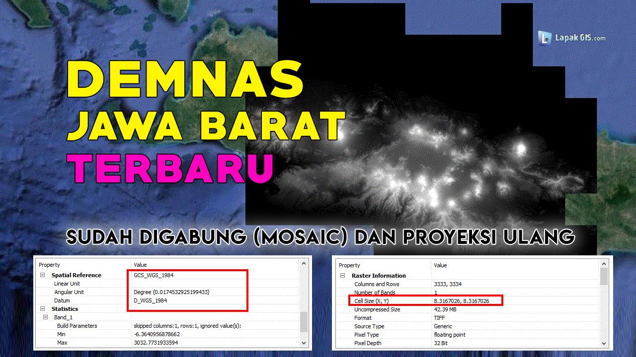 DEM Nasional (DEMNAS) Provinsi Jawa Barat Terbaru