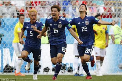 Highlight Kolombia 1-2 Jepang, 19 Juni 2018