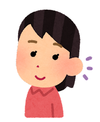 五感のイラスト(聴覚・女性)