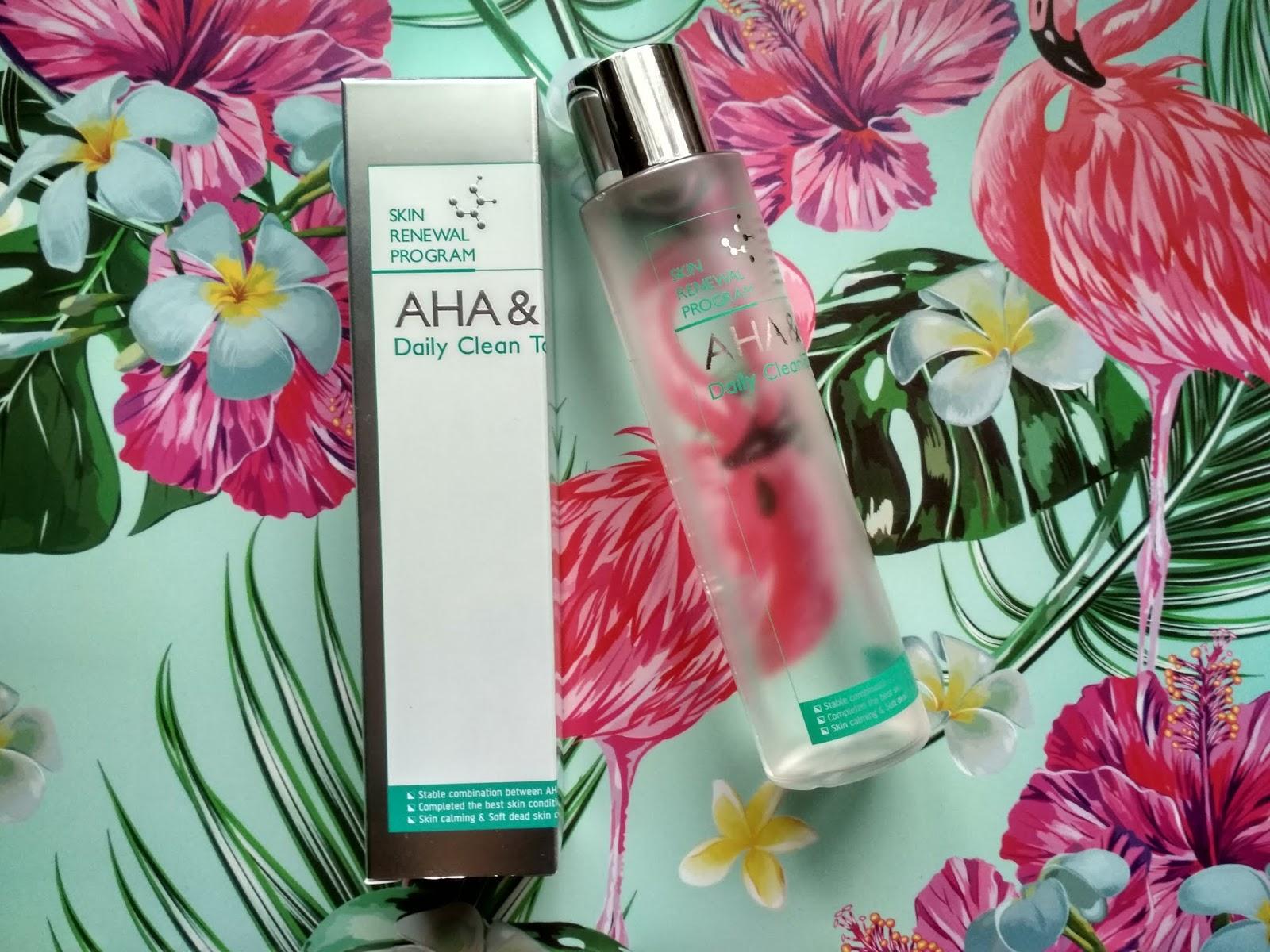 Recenzja - Mizon Skin Renewal Program AHA&BHA Daily Clean Toner