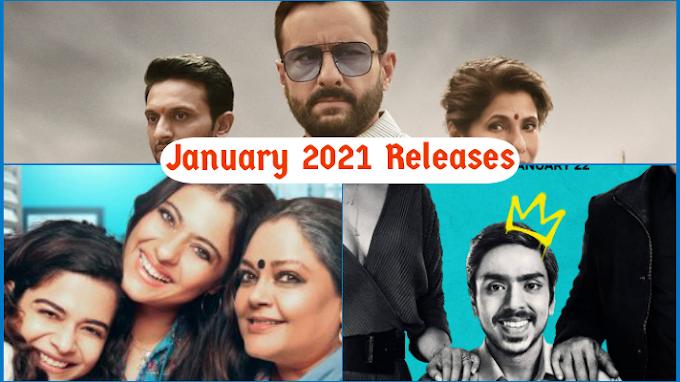 जनवरी २०२१ होनेवाला है धमाकेदार ये बड़ी Web Series और Movies होंगी रिलीज