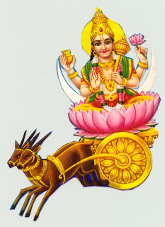 Picture of Lord Chandra the Moon God of Hindus