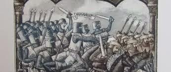 el rey de Españacompensa a micer Ruggieri de su mala fortuna. Ilustr. C. Perellón