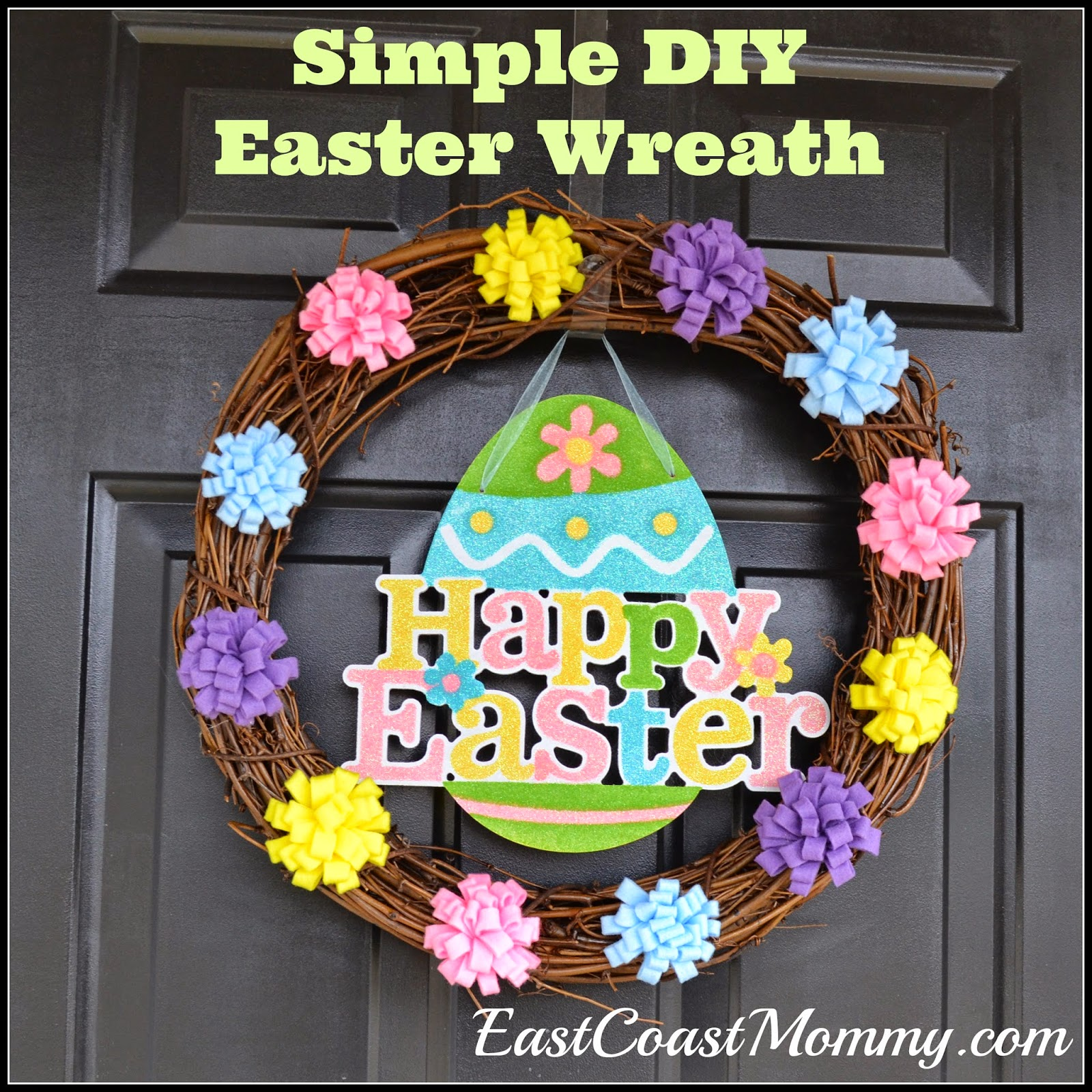 Two Silly Monkeys Easter Basket Wreath: East Coast Mommy: Easy And Inexpensive EASTER Ideas
