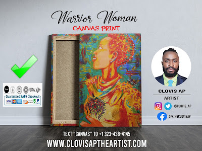 WARRIOR WOMAN CANVAS PRINT - CLOVIS AP