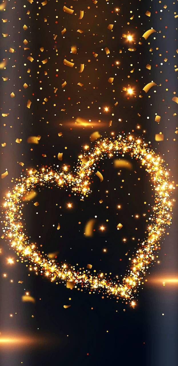 Imagem para Celular Coração Dourado