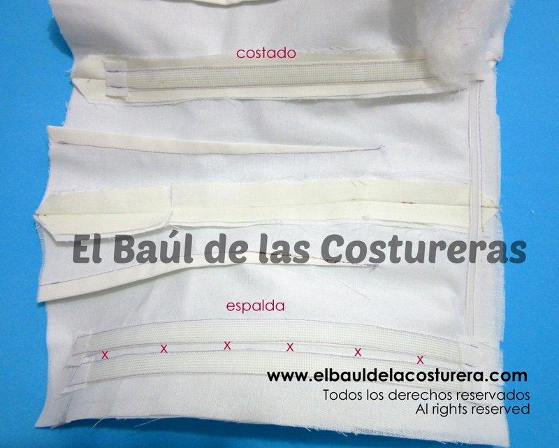 Corset BC140 Colocación Ballenas Rigilene