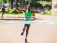 ELKANA YEGO RETAINS TITLE: TRANS NZOIA RUNNER DEFENDS KISUMU MARATHON CROWN AS CHEPKEMOI WINS WOMEN'S RACE