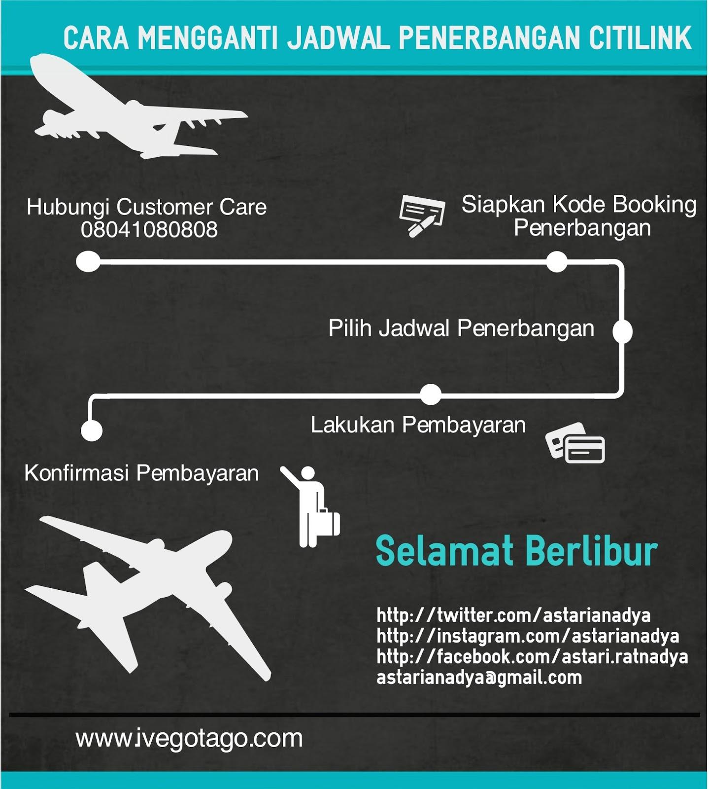 Astarianadya Cara Mengganti Jadwal Penerbangan Citilink