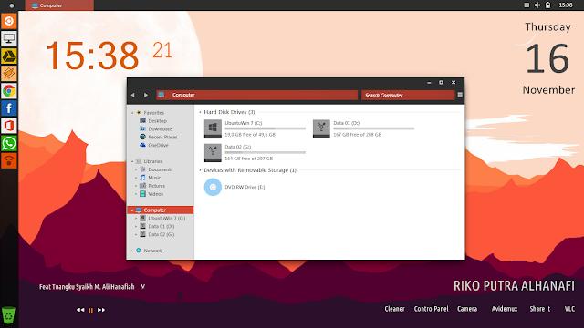 Desktop Unity Ubuntu Pada Windows 7 8 8.1 10 - Merubah