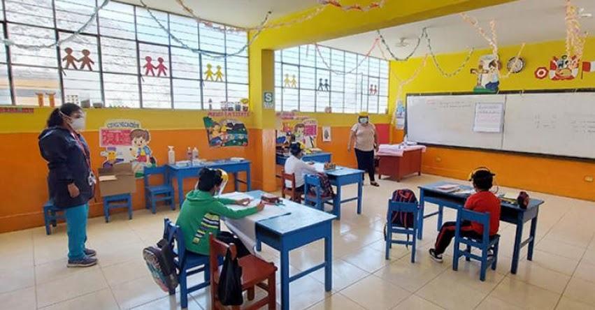 MINEDU: Es necesario que niños y adolescentes retornen a las aulas porque la interrelación con los docentes es importante para los aprendizajes