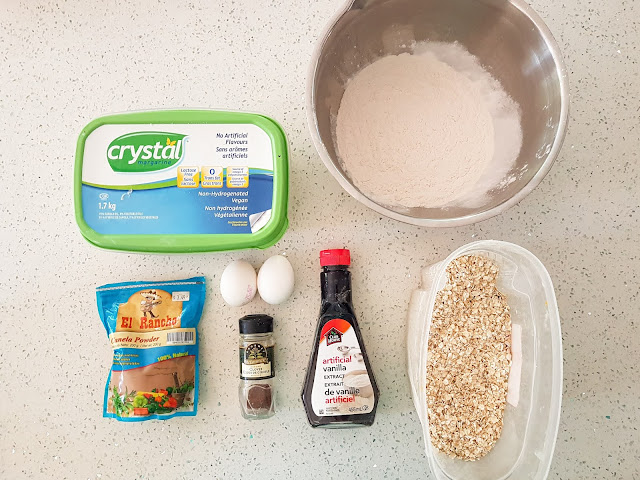 Banana Oatmeal cookie recipe by Plaid and Sugar deliciously easy