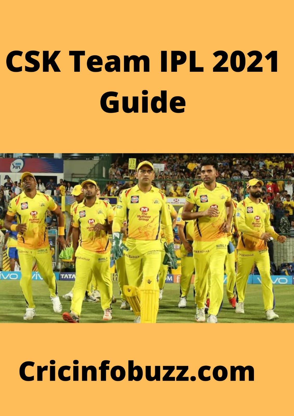IPL 2021 Team Guide: Chennai Super Kings