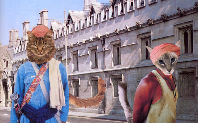 Cat people collage by C. Mazzie-Ballheim