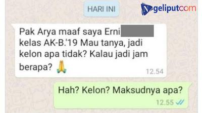 Chat Viral Siswi Tanya Kelas Pakai Singkatan, Guru: Hah? Kelon?