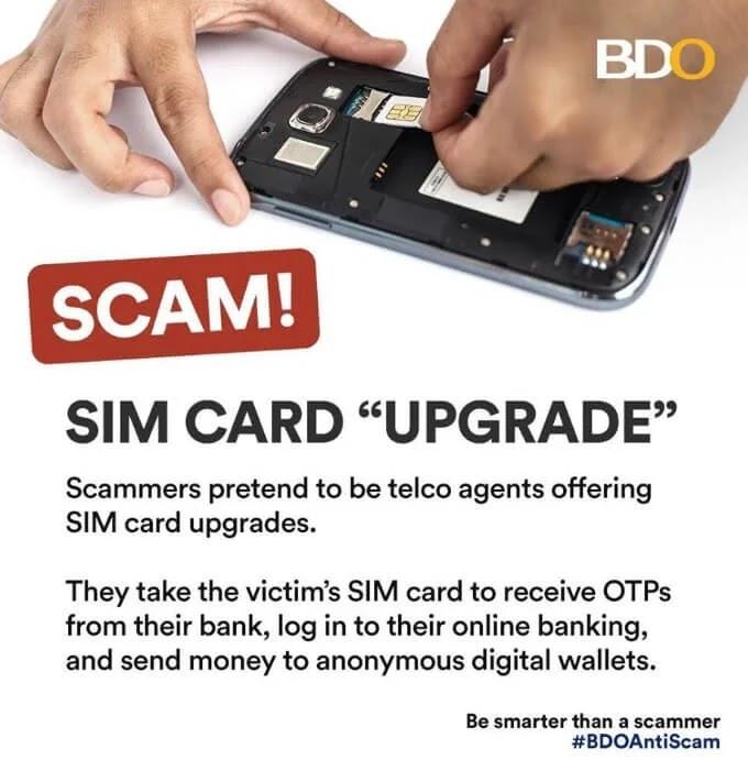 BDO warns against SIM-card-related scams
