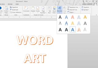 Cara Membuat Word Art dan Pengaturannya di MS Word